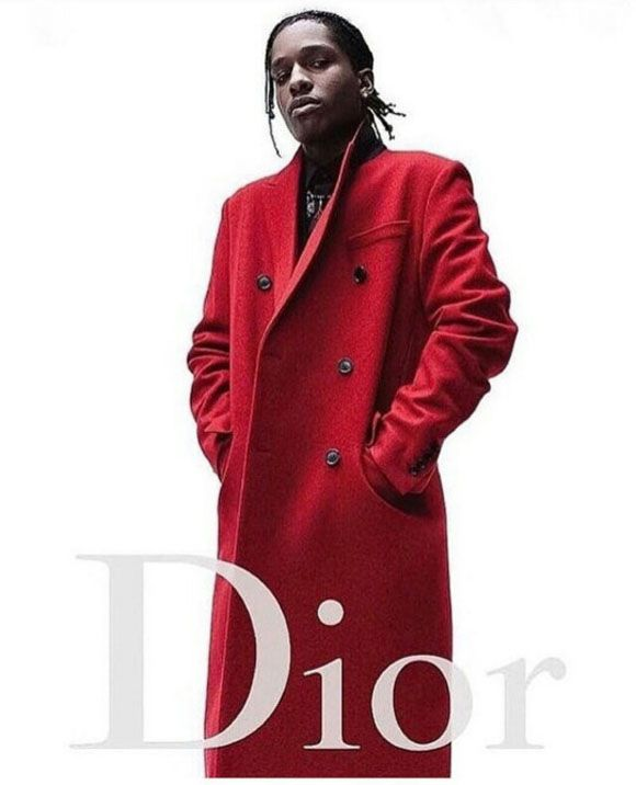 Asap Rocky is the new face of Dior Homme.