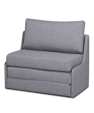 Gold Sparrow Gray Albany Convertible Love Seat Sleeper Zulily Chair Lounger In 2019 Casper Bed Reviews