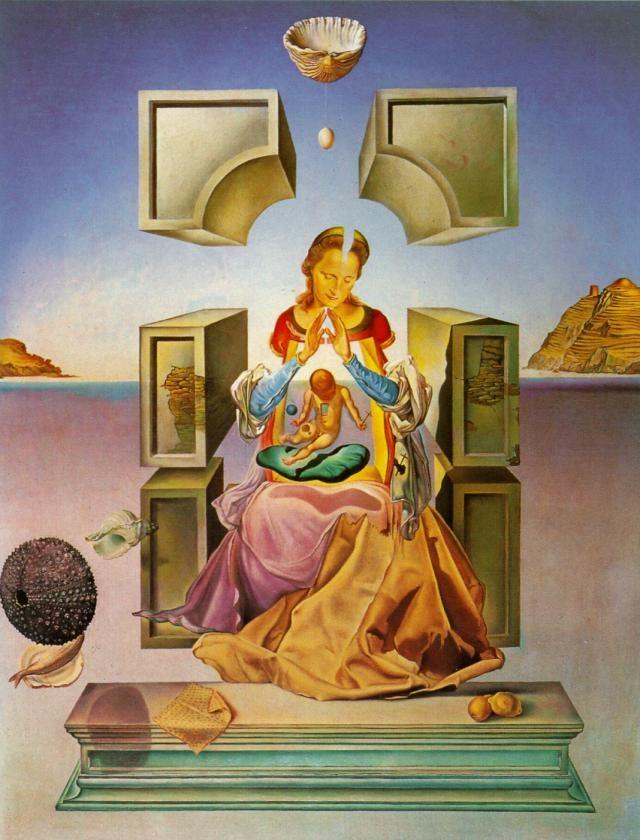 Salvador Dali >> La Madone de Port Lligat (première version), 1949  |  (huile, reproduction, copie, tableau, oeuvre, peinture).