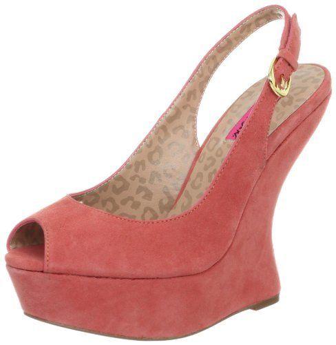 Betsey Johnson Women's Makenna Wedge Pump Betsey Johnson. $99.00. suede. Hidden heel. Manmade sole. Platform measures approximately 1.5