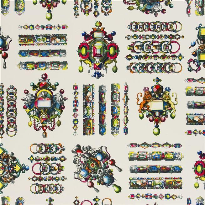 La Main Au Collet - Bougainvillilithos #Fabrics from Christian Lacroix Maison