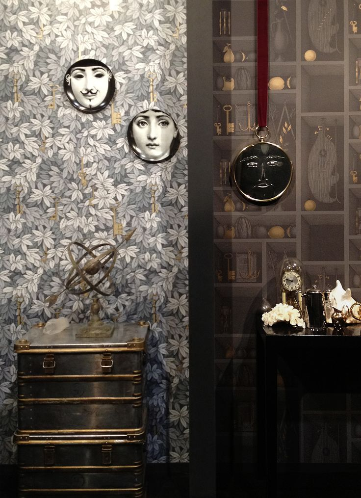 Our Maison stand showing Chiavi Segrete & Nicchie from Fornasetti II by cole & son