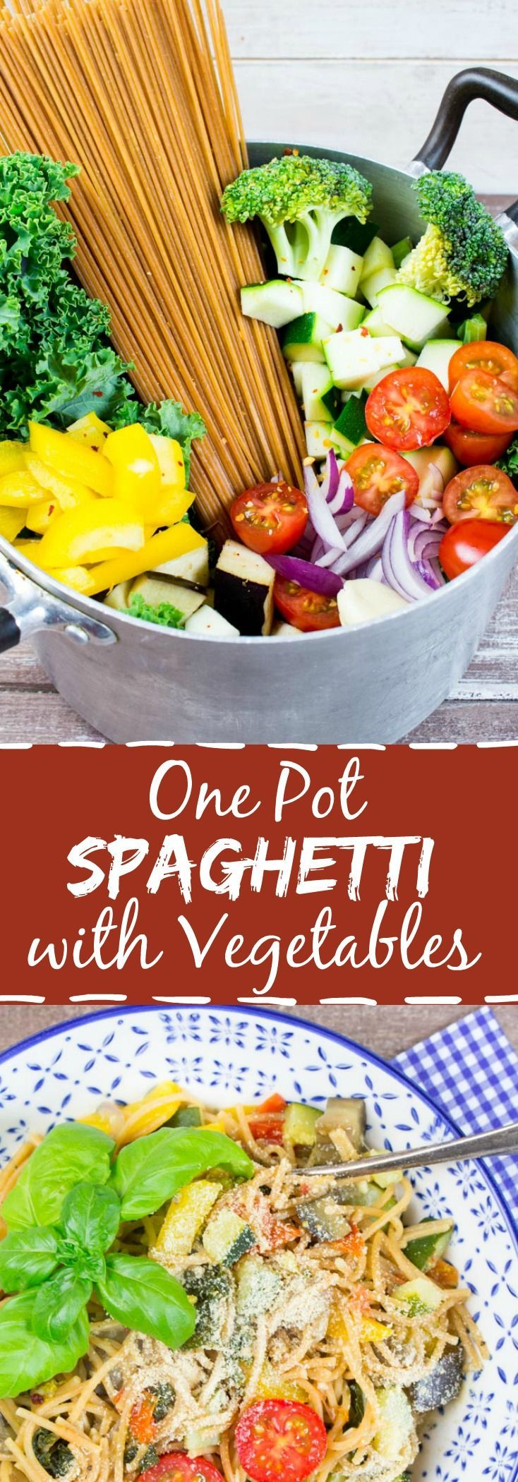 Vegan one pot spaghetti with vegetables. Tried 1-24-16