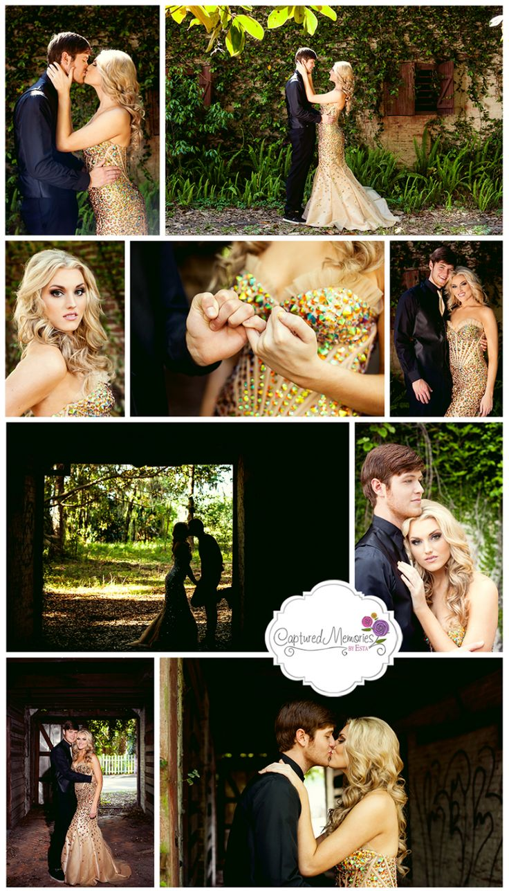 Allie + Cody – Senior Prom Homecoming Portraits 2014 – Lake City, Fl Photographer » Captured Memories by Esta Columbia High Outdoor Brick Stable Couples Session