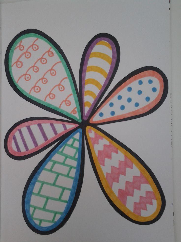 Loopy flower ink doodle art. S.J. Ireland.
