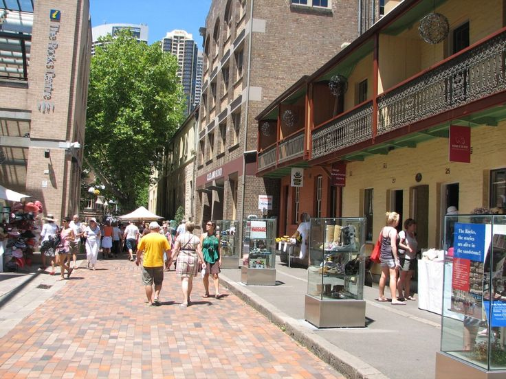 The Rocks, Sydney, Australia. Street stones laid by the transported who carved their initials in the stones.