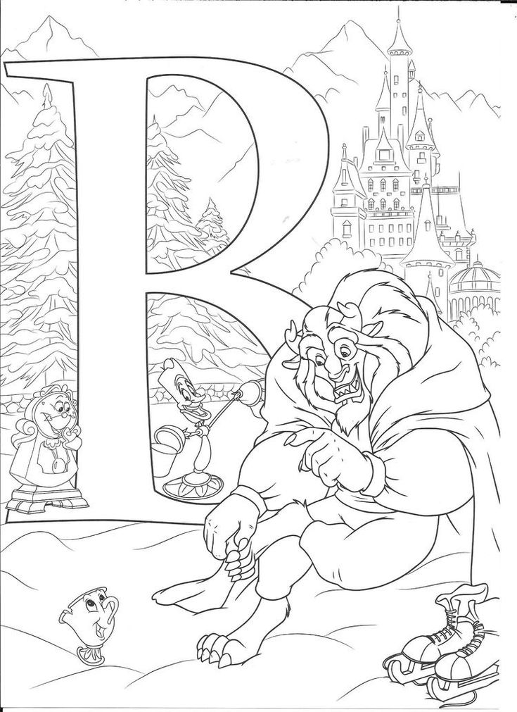 Disney colouring pages Abc coloring pages Coloring