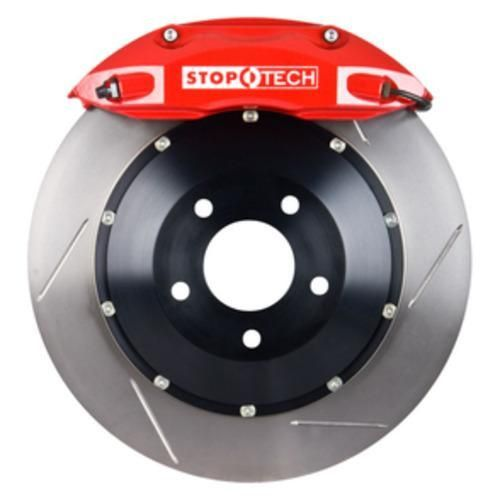 Stoptech 1991-2005 Acura NSX Front Big Brake Kit BBK - Red ST-40 Calipers/ Slotted 328x28mm Rotors/ D609 Brake Pads/ SS Lines