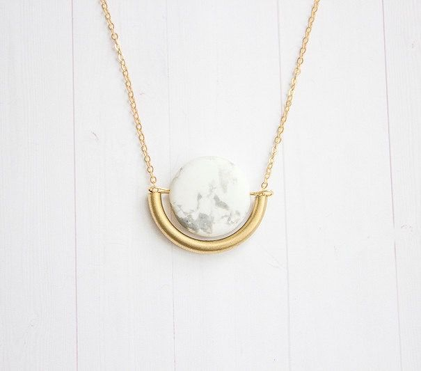 Marble Necklace #etsy