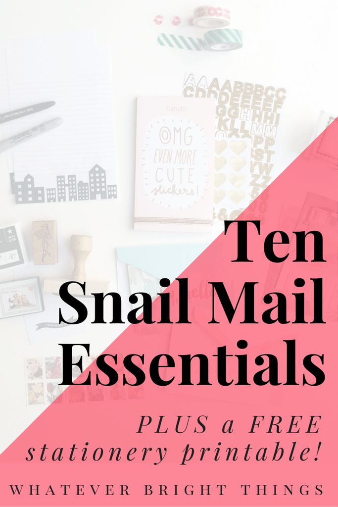 Hello friend! This post is all about Snail Mail and what you need to make your letters cute. Click through to check out my 10 Snail Mail Essentials and to download a FREE stationery printable!