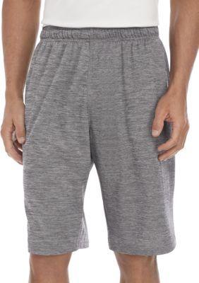 Zelos Herren Big & Tall Space Dye Gym Shorts – Schwarz Nite / Slate Tile – Lt   – Products