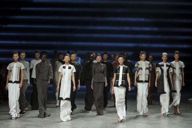 Finale of Rick Owens Spring/Summer 2012 fashion show at Paris Fashion Week