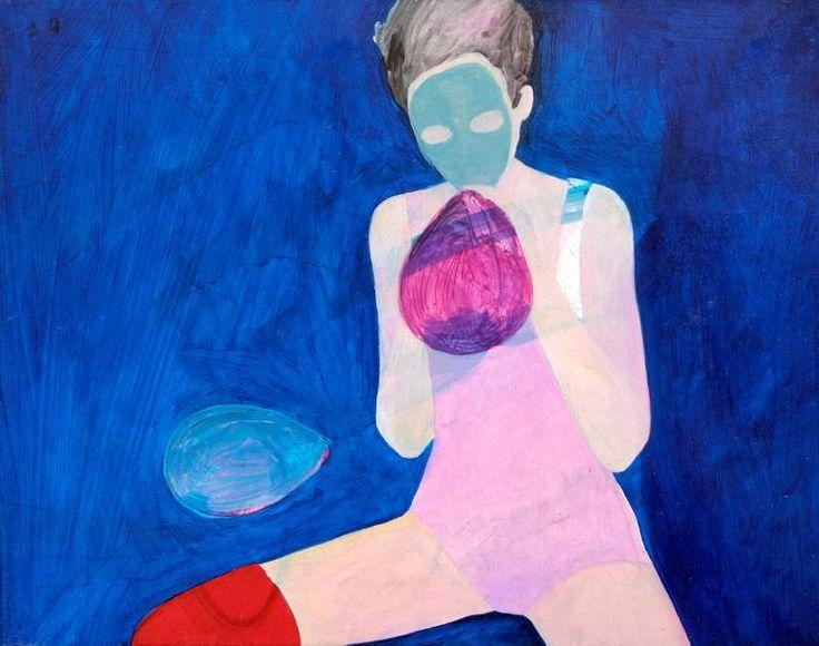 "Saatchi Art Artist Ewa Zwarycz; Painting, ""Mask"" #art"