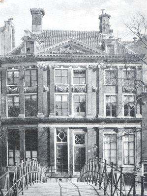 Door Ph. Vingboons ontworpen gevel aan de O.Z. Voorburgwal, gesloopt ten behoeve van de verbouwing van het Raadhuis, 1925.