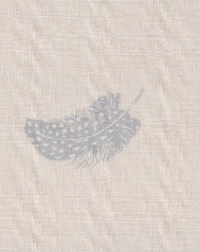 'Falling Feathers' colour Blue-Gray, Peony & Sage