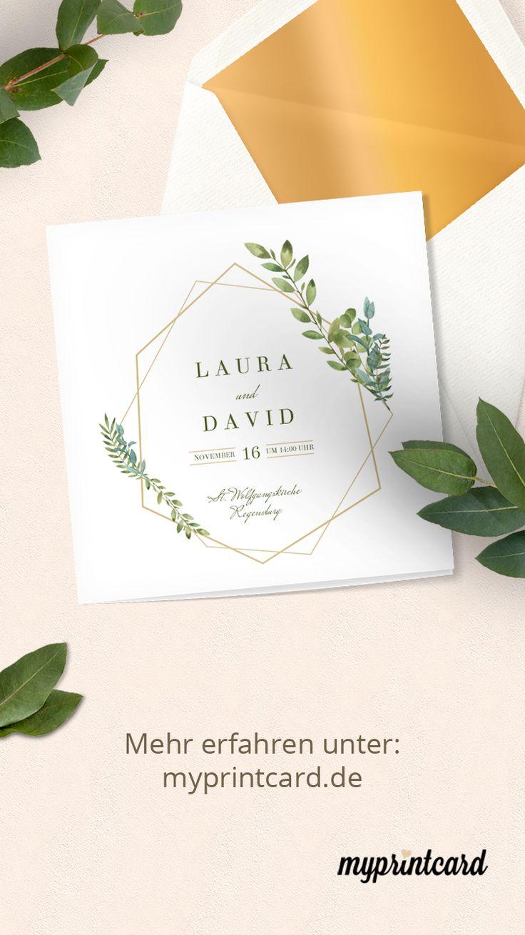 """Hochzeitseinladung """"Herbarium"""""""