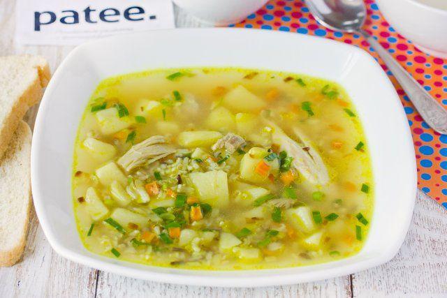 Суп куриный с диким и коричневым рисом
