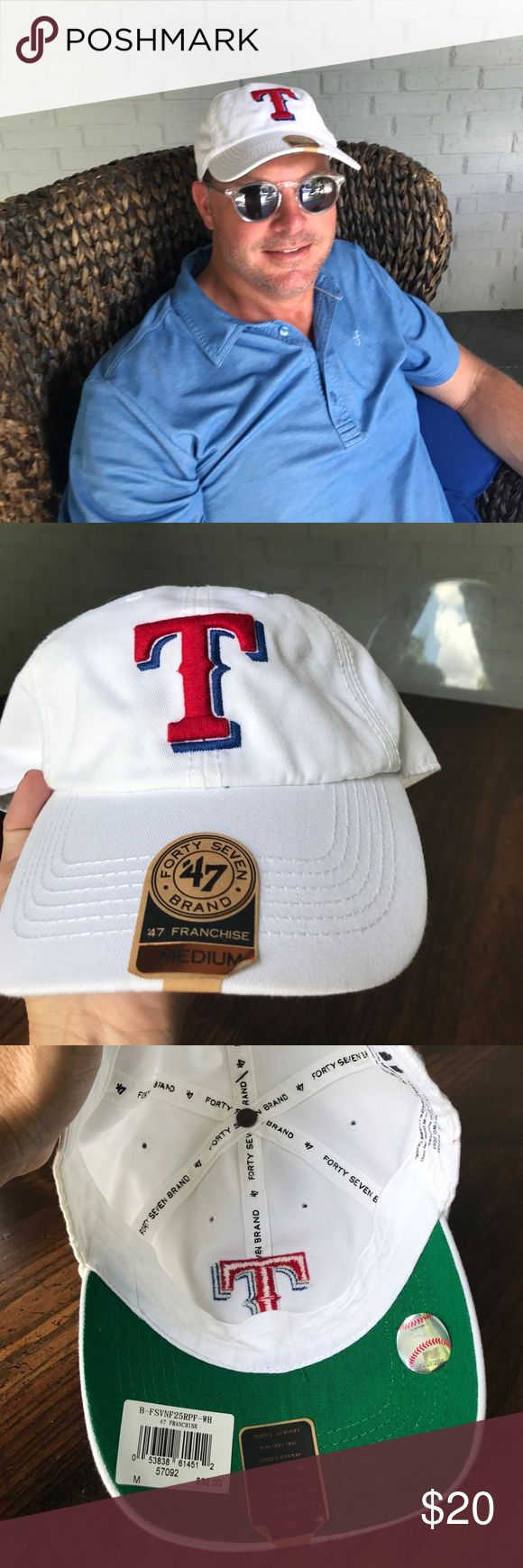 Texas Rangers Hat Medium NWT Texas Rangers Hat size Medium Forty Seven Accessories Hats