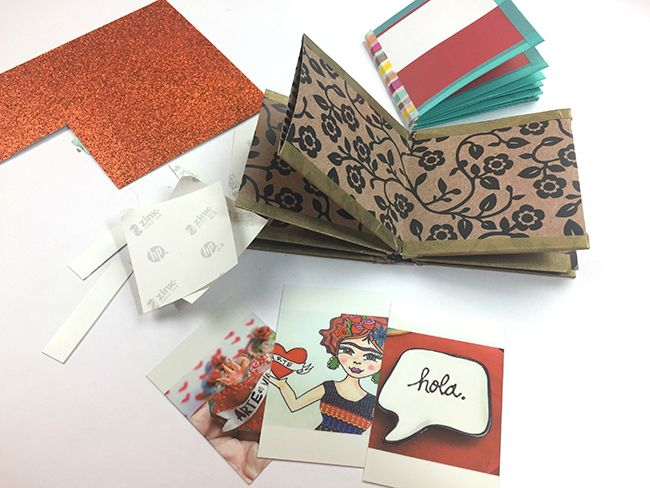 DIY Mini Photo Books | Make a mini photo book from scrapbook paper and your favorite memories from your HP Sprocket!