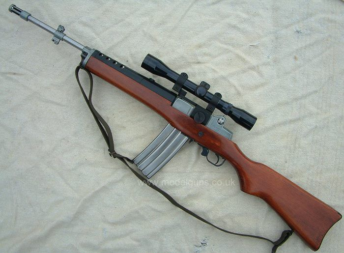 Ruger Mini-30 (Chambered in 7.62x39mm, it does not use standard AK magazines. Like the Ruger Mini-14, it bears a strong resemblance and basic operation of the M14 or M1A.)