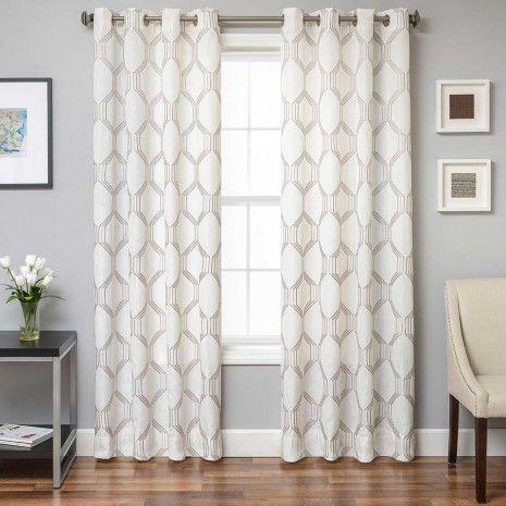 Dylan Semi-Sheer Grommet Panel - Sheer - Window Curtains - Decor