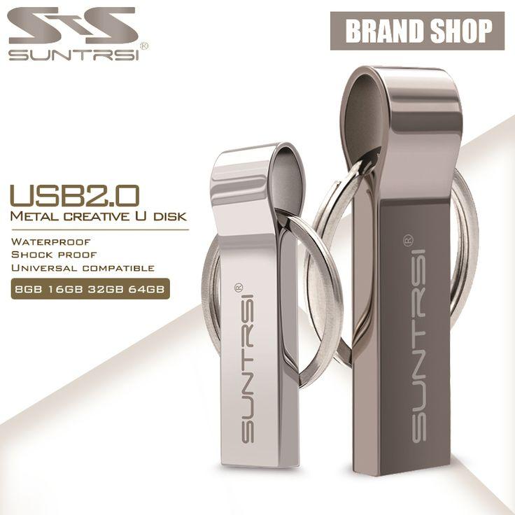 GB logam baja suntrsi usb flash drive 64 pen drive kecepatan tinggi Gantungan kunci USB Stick Flash Drive Memori flashdisk USB Flash Freeship