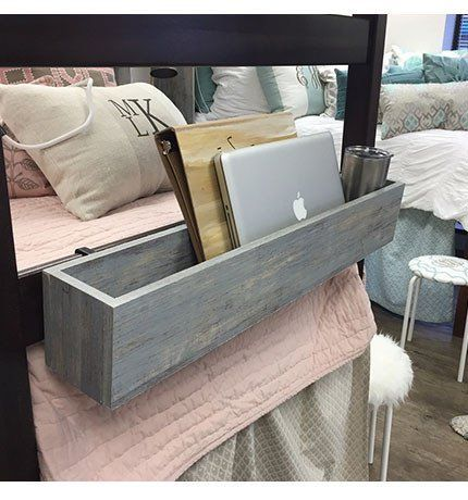 Bed Rail Cubby - Restoration Wood - Available September 1 – Dorm-Decor