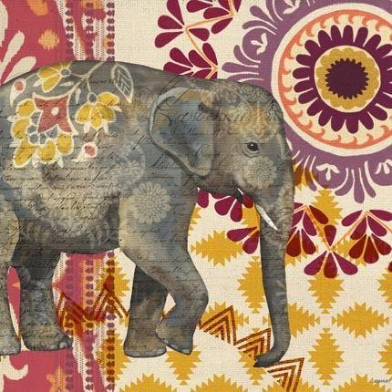Caravan Elephant Suzani by Jennifer Brinley   Ruth Levison Design