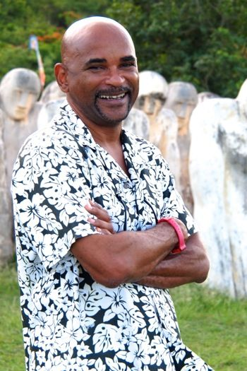 Laurent Valere, artistic genius behind The Anse Cafard Slave Memorial in Martinique (and a really good guy).