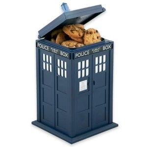 Doctor Who Talking Tardis Cookie Jar What Whovian can resist this little collectible cookie jar.  The low roar of the Doctor's pride and joy as it takes off for somewhere in time, will alert you if there is a cookie thief close by. http://theceramicchefknives.com/talking-cookie-jar/ Singing Treat Jar CAT Song: Pussy Cat, Spongebob Squarepants Talking Cookie Jar, Talking Cookie Jar, Talking Cookie Jar: Spongebob Squarepants, The Original Tiger Cookie Jar, Who Let the Dogs Out Singing Dog…