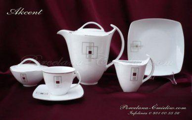 Serwis do kawy Akcent dla 12 os. / 27 el. D.E635 cena: 379 zł