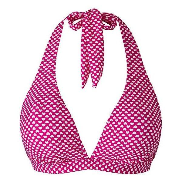 Simply Yours Bikini Top ❤ liked on Polyvore featuring swimwear, bikinis, bikini tops, halter swimsuit top, halter bikini, triangle bikini top, halterneck bikini and swim top