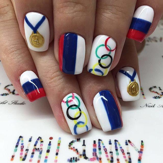92 best Olympic Nail Art images on Pinterest | Nail art, Nail art ...