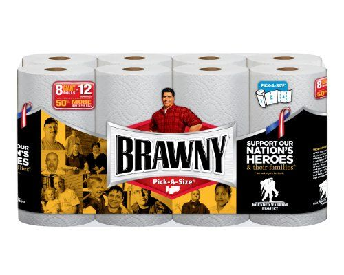 Brawny Paper Towels, Pick-A-Size, White, Giant Roll - 8 Pk, 2015 Amazon Top Rated Disposables #HealthandBeauty