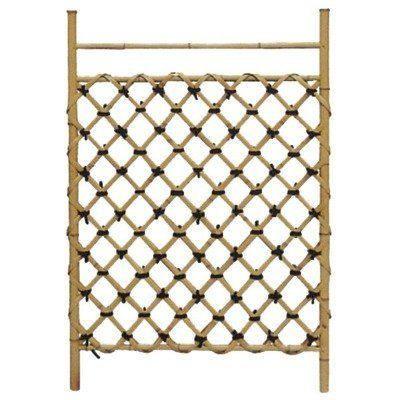 """Oriental Furniture Zen Gardening Accessories, 41-Inch Japanese Fence Garden Gate, WD04-1 by ORIENTAL FURNITURE. $78.00. Hand crafted bleached and finished bamboo pole and split bamboo lattice. Browse our selection of japanese garden accents and accessories on amazon.com. Hinges not included, finish intended for covered use, can be finished for outdoor use. 41.33"""" tall by 29.5"""" wide, japanese style bamboo garden gate or fence section. Crafted for use as a bamboo fence..."""
