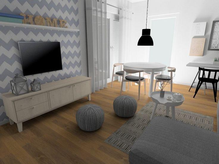 Wohnzimmer ideen wand streichen grau  Die besten 25+ Chevron wohnzimmer Ideen auf Pinterest | Chevron ...