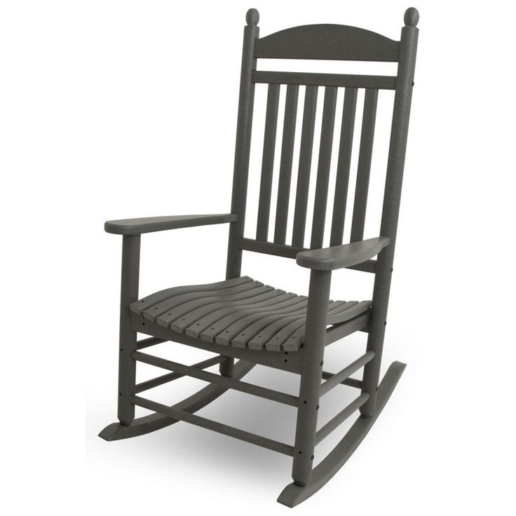 Outdoor POLYWOOD® Jefferson Recycled Plastic Rocking Chair Slate Gray - J147GY