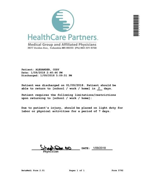 clinic release  healthcare partners in 2019