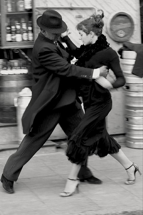 Tango  Buenos Aires 2008 Photo: Adriana.  I love everything about this photo. Just the sheer elegance of the guys hat, coat etc., his stance and the way he is holding that gorgeous woman. To me it is perfectionxxxxx