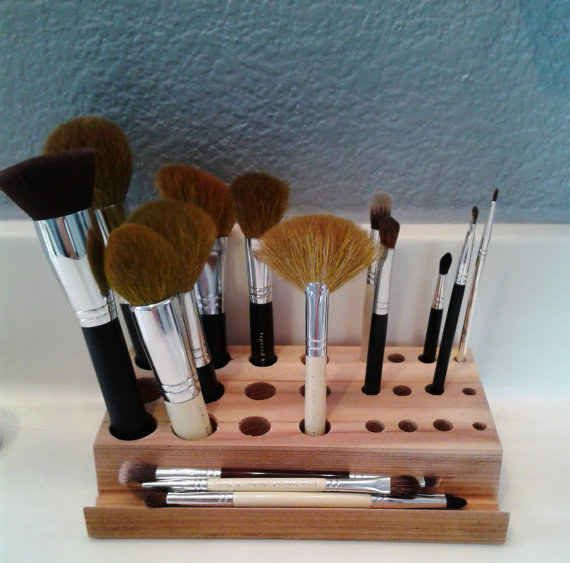 This makeup brush organizer ($15).