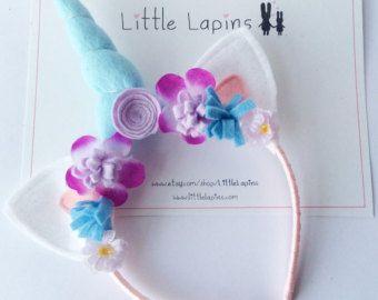 Unicorn headband by LittleLapins on Etsy