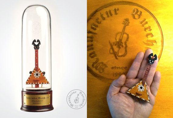 Handmade miniature instrument  Balalaika by ManufacturBurchardt