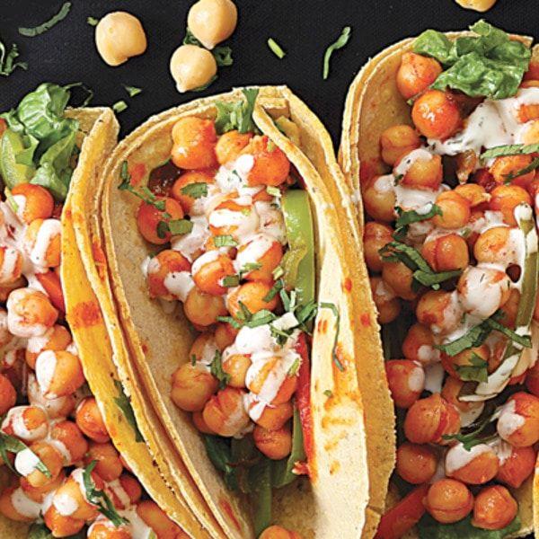 Vegan Buffalo Chickpea Tacos Vegetarian Recipes Vegan Dinners