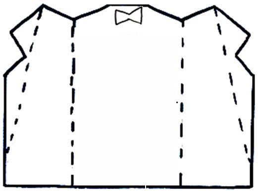 Трафарет пиджака для открытки, днем рождения