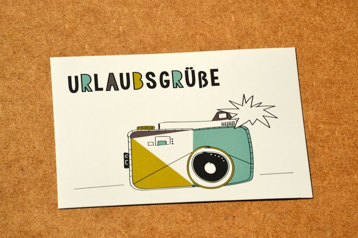 Urlaubsgrüße / Postkarte / Urlaubskarte