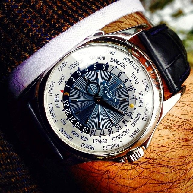 Patek Philippe World Time 5130 in Platinum. Traveling in style Photo by @Yesfir Solkan Watch Company