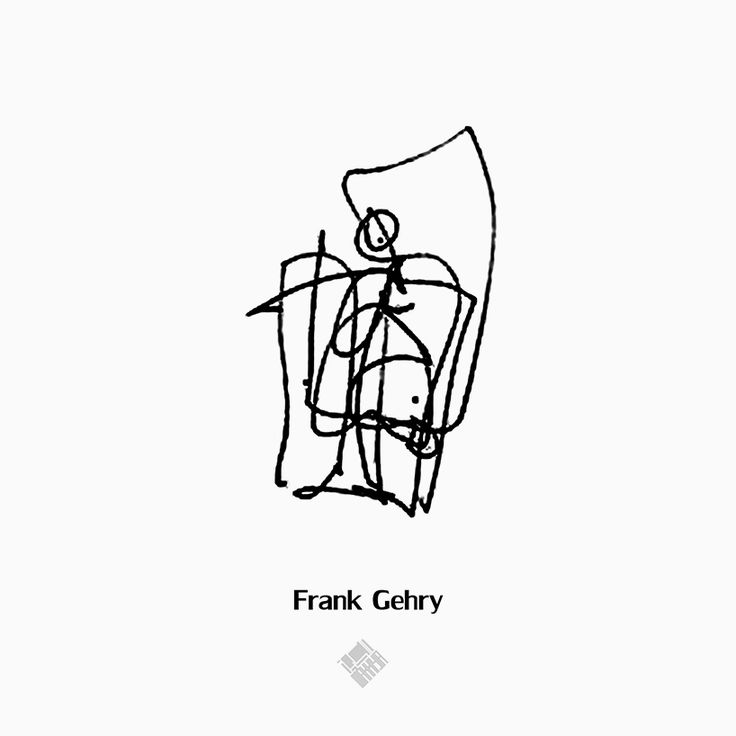 new york based architectural designer noor makkiya has collected 21 drawings of human depictions by famous architects for the series 'figures'.