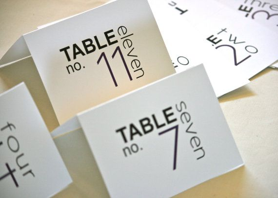 Tent table numbers and modern on pinterest for Table 52 cards