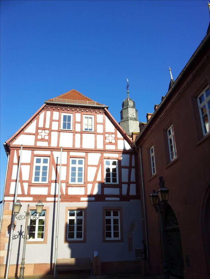 City hall of Obernburg am Main, county Miltenberg