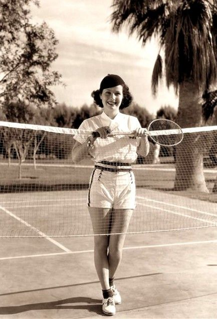 Promo shot of American actress June Travis, seen here in her badminton gear, 1937